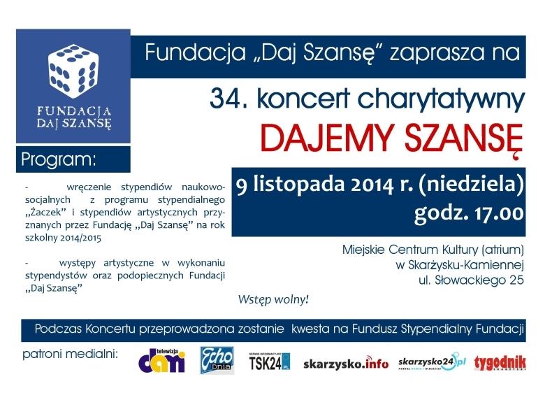"""34. koncert charytatywny """"Dajemy szansę"""" - MCK - 09.11.2014 r."""