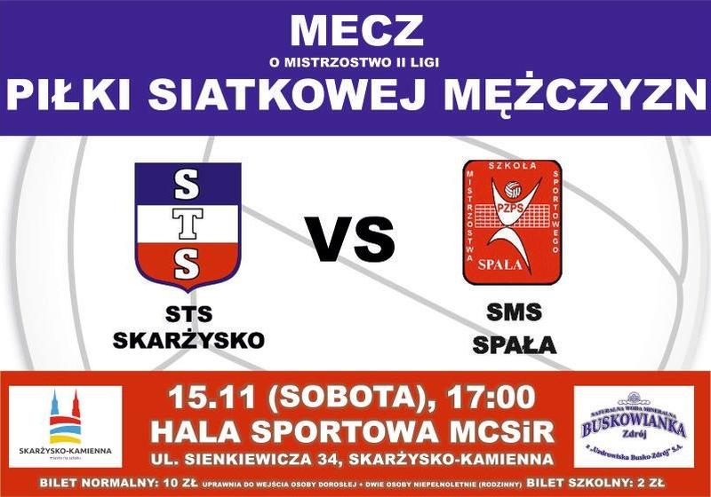 STS Skarżysko – SMS Spała – II liga – 15.11.2014 r.