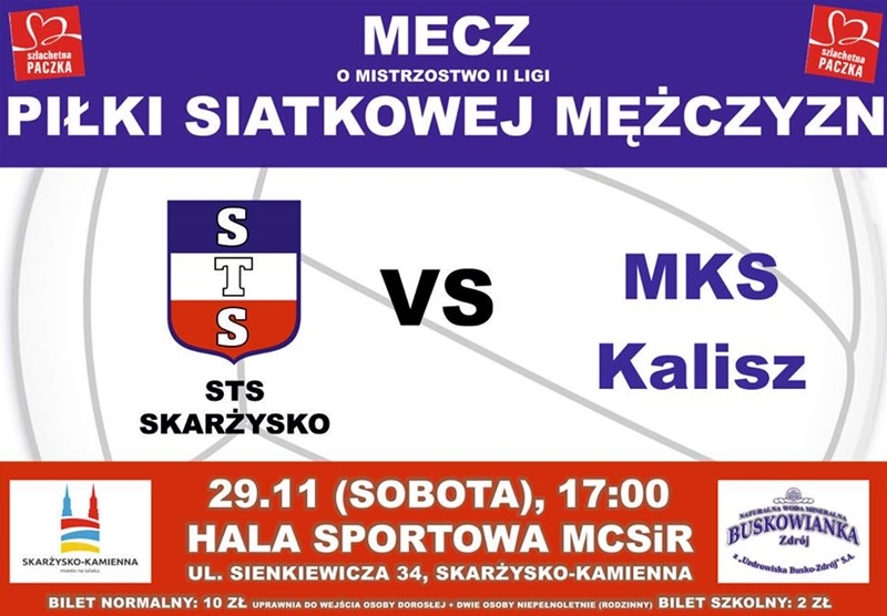 STS Skarżysko – MKS Kalisz – II liga siatkarzy