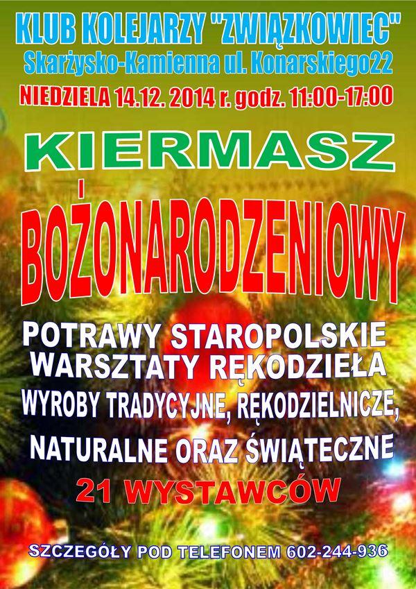 Kiermasz Bożonarodzeniowy – Związkowiec – 14.12.2014