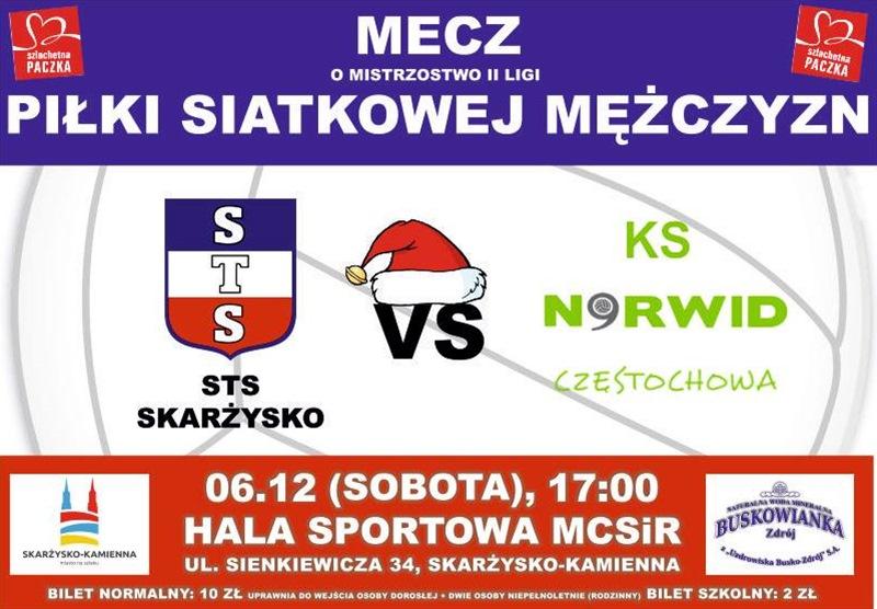 STS Skarżysko – Exact Systems Norwid Częstochowa – II liga siatkarzy