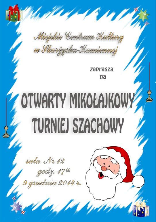 Otwarty Mikołajkowy Turniej Szachowy 2014 - MCK - 9.12.2014 r.