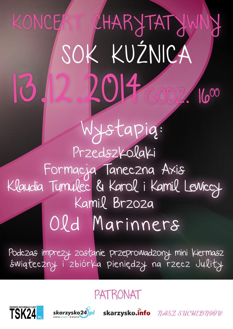 Koncert charytatywny dla Julity - SOK Kuźnica - Suchedniów - 13.12.2014 r.