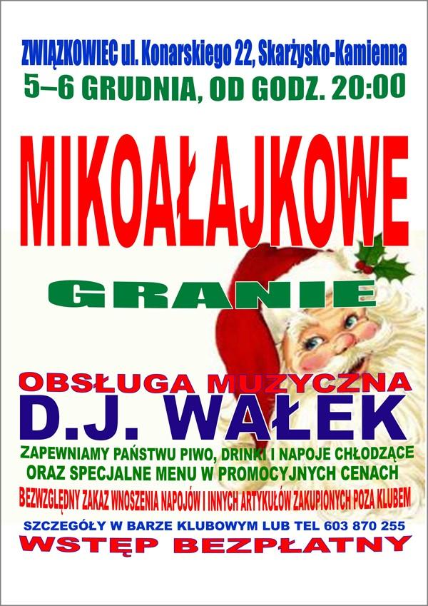 Mikołajkowe Granie – Klub Kolejarza Związkowiec – 5 i 6 grudnia 2014