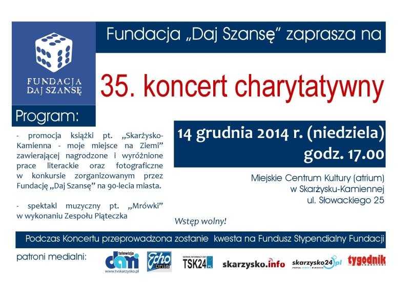 """35. Koncert Charytatywny Fundacji """"Daj Szansę"""" - MCK - 14.12.2014 r."""