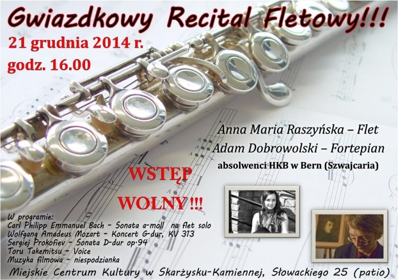 Gwiazdkowy Recital Fletowy - MCK - 21.12.2014 r.