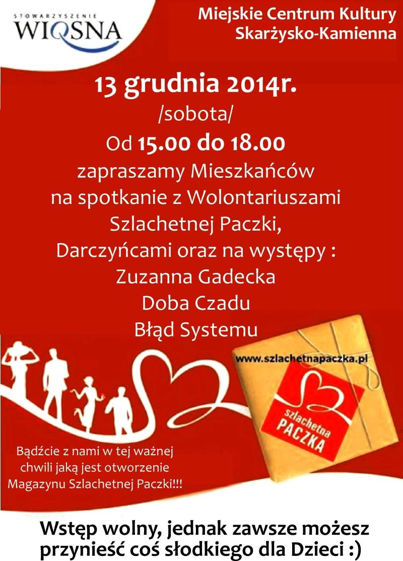 Szlachetna Paczka – spotkanie – MCK – 13.12.2014 r.