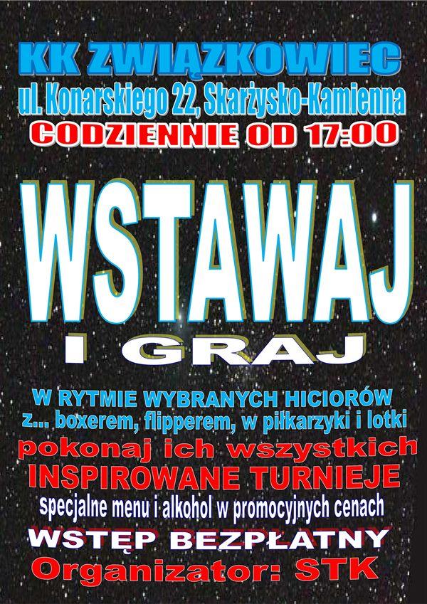 """Wstawaj i graj – Klub Kolejarza """"Związkowiec"""""""