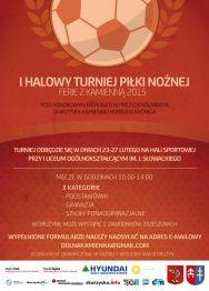 """I Halowy Turniej Piłki Nożnej """"Ferie z Kamienną 2015"""""""